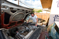 Daniel McCue in the process of restoring his 1959 Ford Thunderbi