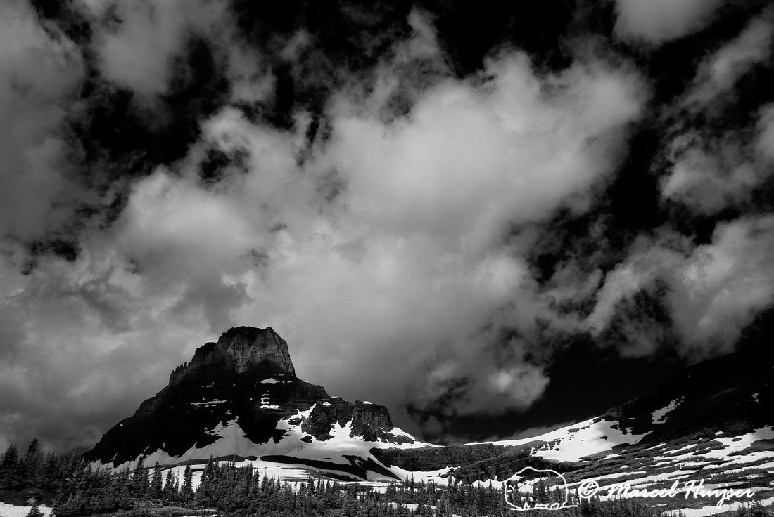 Logan Pass (in infrared), Glacier National Park, Montana, USA