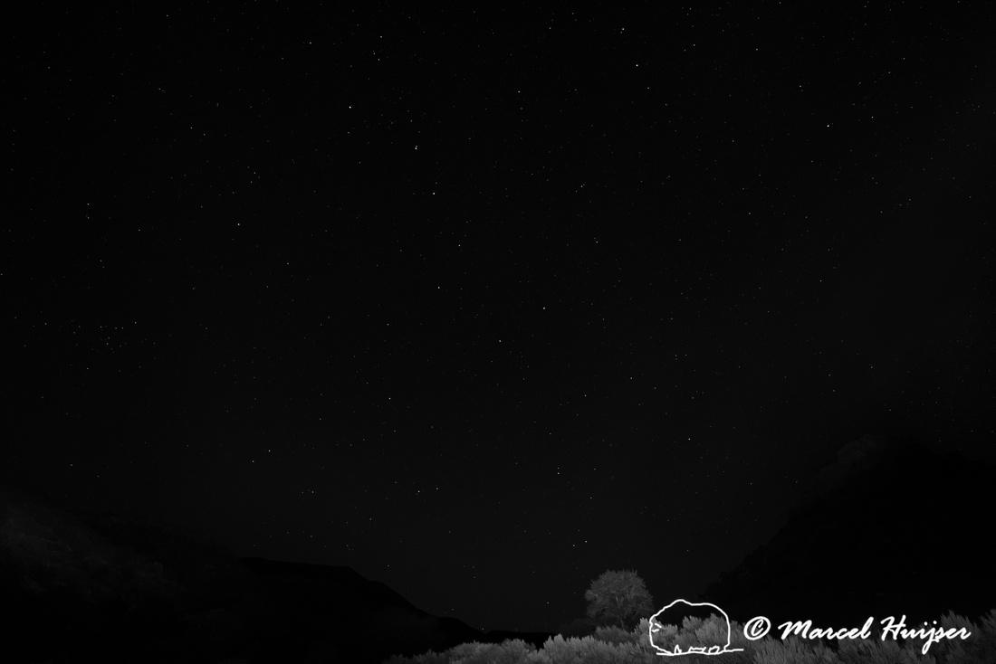 Night sky, Bighorn Canyon National Recreation Area, Montana, USA