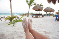 Kicking back on the beach, Tulum,  Mexico