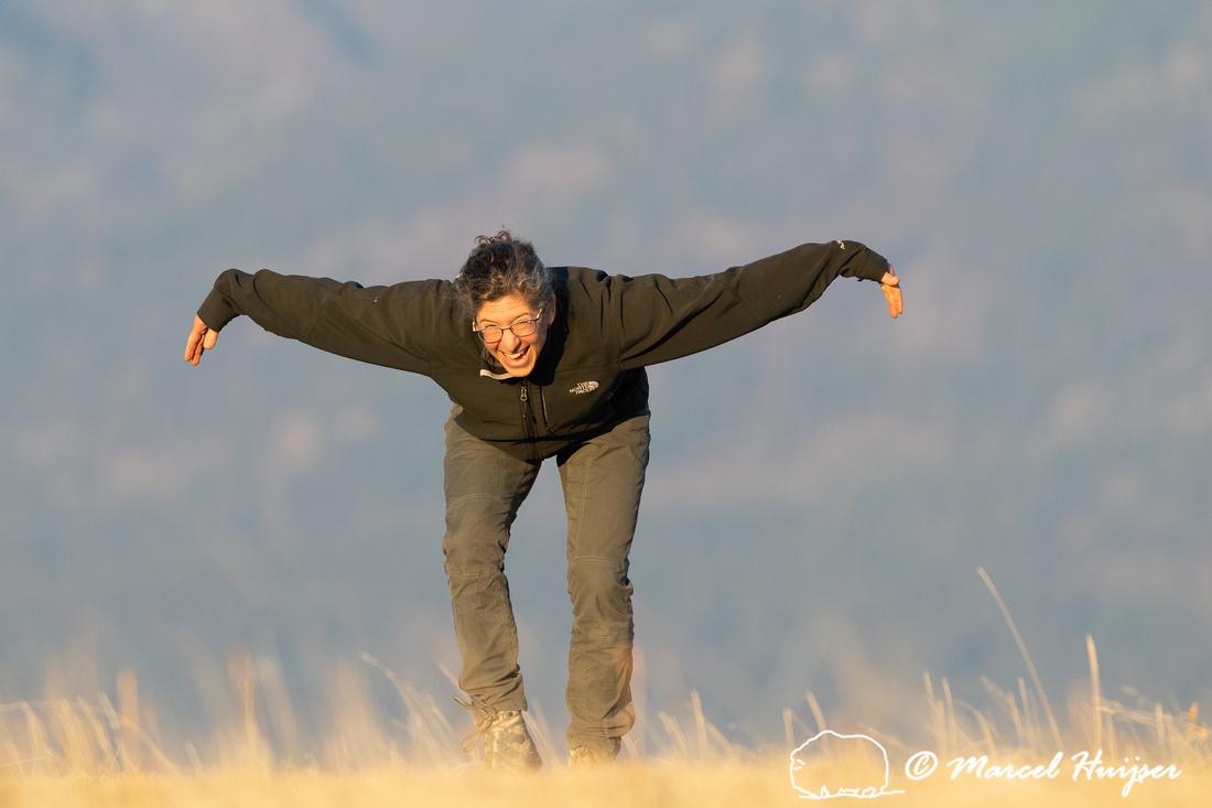 Bethanie Walder dances like a sharp-tailed grouse (Tympanuchus p