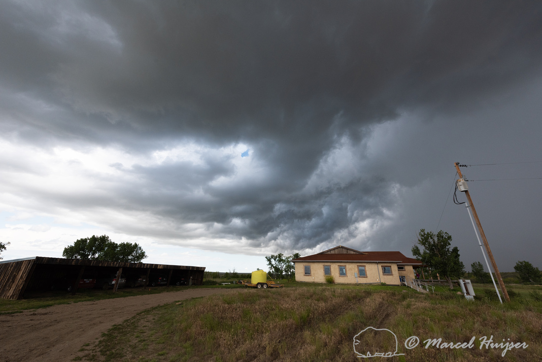 Storm clouds just after funnel disappeared, 5 July 2019, Enrico