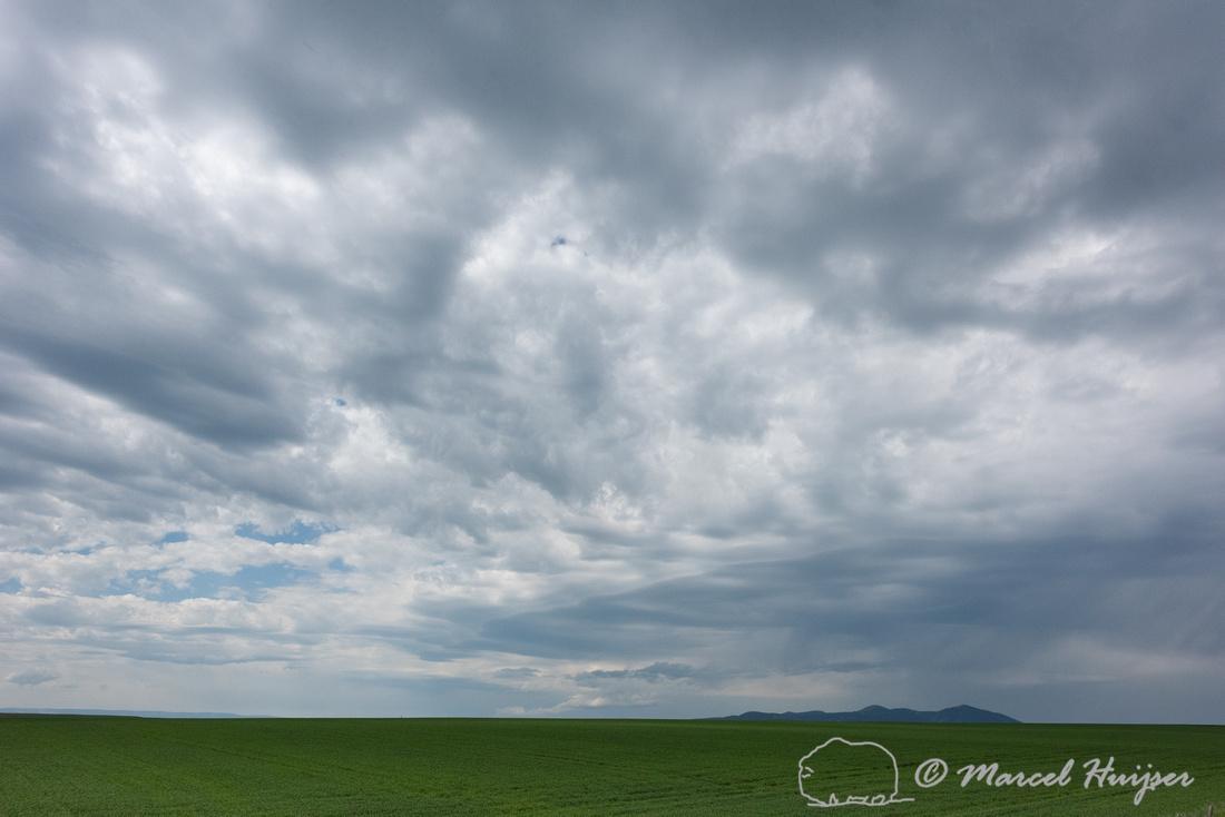 Storm clouds near Hilger, Montana, USA