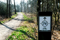 Bicycle route sign, Weerterbos, Maarheze, The Netherlands