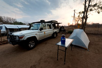 Camping at Crocodile Bridge, Kruger National Park, South Africa