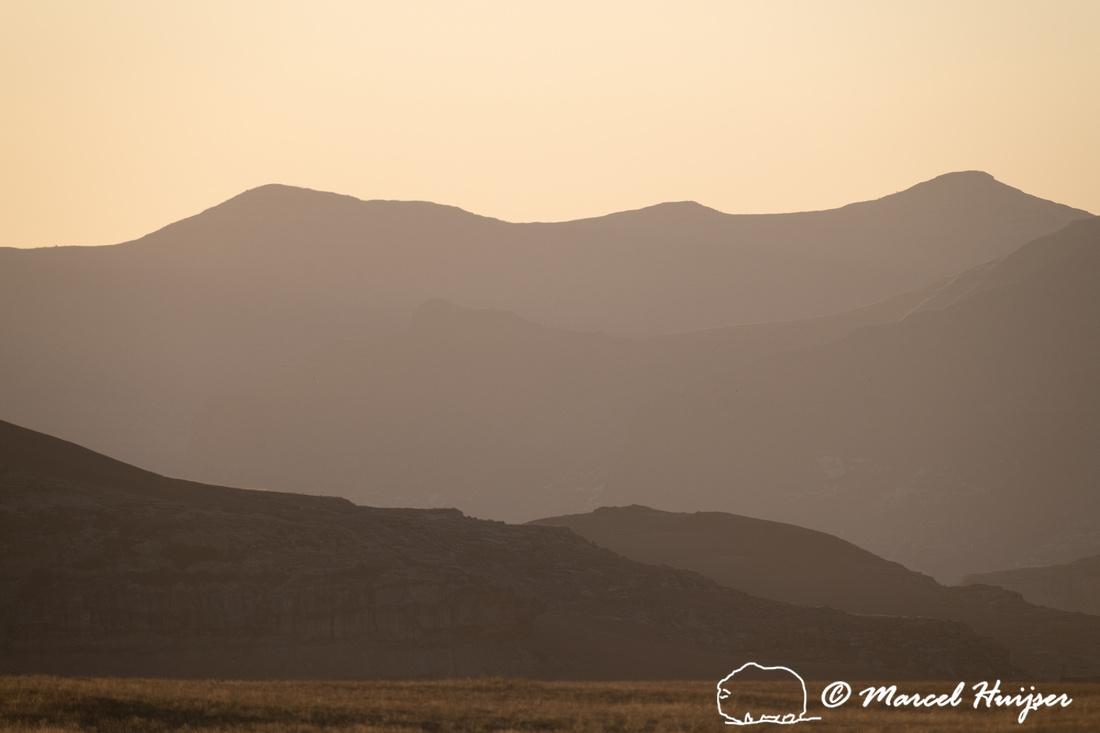 Mountains at sunset, Golden Gate Highlands National Park, Free S
