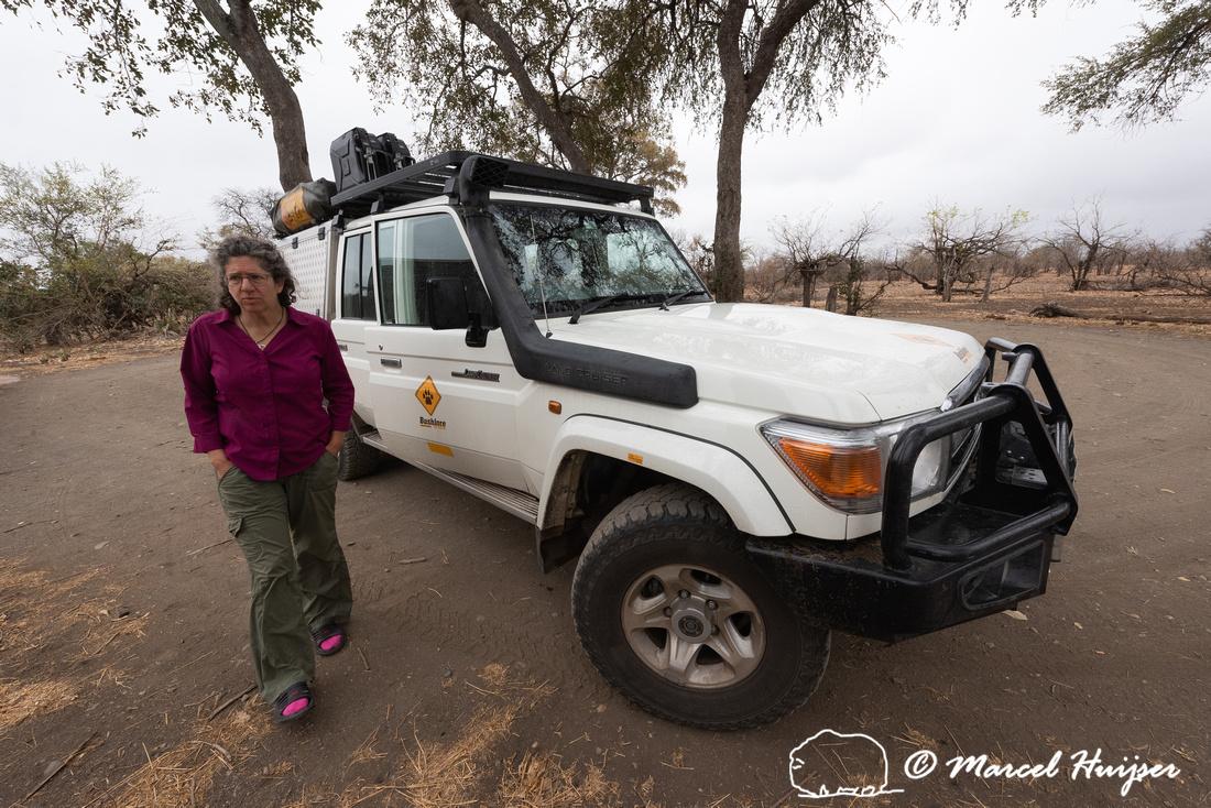At a birding blind Balule, Kruger National Park, South Africa