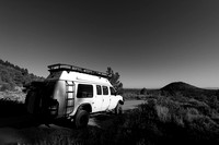 Camper van, Lava Beds National Monument, California