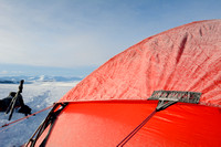 The making of the muskoxen images, Our tent, a Hilleberg Saivo, at camp 2, Dovrefjell National Park, Norway