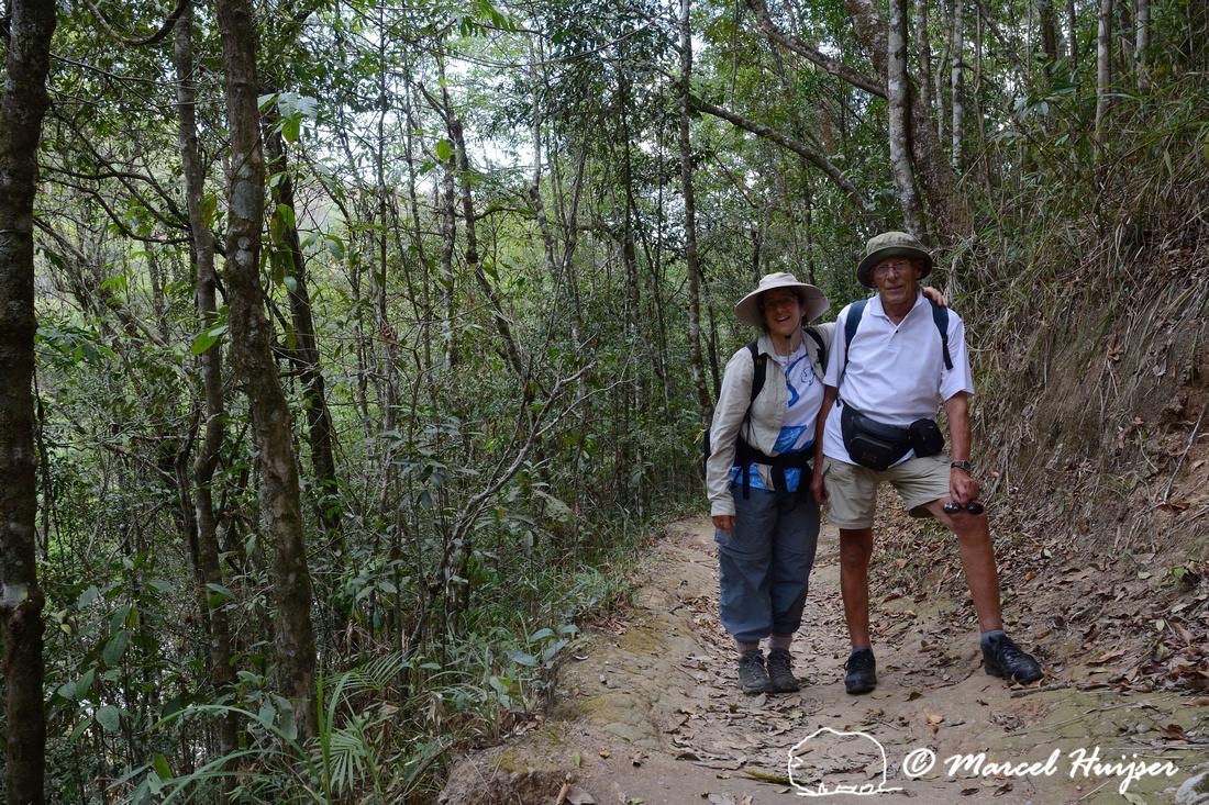 Bethanie Walder and Piet Huijser on the Casca d'Anta trail, Parque Nacional da Serra da Canastra, Minas Gerais, Brazil