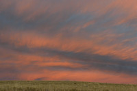 Sunset on the prairie, Montana, USA