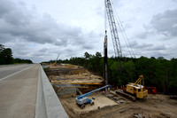 Construction of new bridge in association with highway widening (4 lanes to 2 lanes), Hwy 331, Hwy 83 near Freeport, Florida, USA