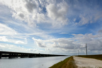 A long bridge (1 mi, 1.6 km) elevatingTamiami Trail (US Hwy 41) allowing for restoration of sheet flow , Everglades, Florida, USA