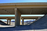 Underpass for desert bighorn sheep (Ovis canadensis nelsoni), White Rock Canyon bridge, US Hwy 93, Arizona, USA.