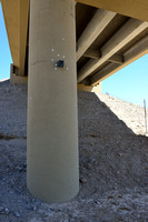 Wildlife camera at underpass for desert bighorn sheep (Ovis canadensis nelsoni), White Rock Canyon bridge, US Hwy 93, Arizona, USA.