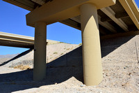 Support columns (better openness for wildlife), White Rock Canyon wildlife underpass for desert bighorn sheep (Ovis canadensis nelsoni), White Rock Canyon bridge, US Hwy 93, Arizona, USA