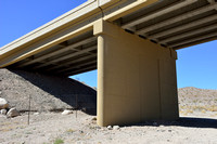 Support walls (reduced openness for wildlife), White Rock Canyon wildlife underpass for desert bighorn sheep (Ovis canadensis nelsoni), White Rock Canyon bridge, US Hwy 93, Arizona, USA