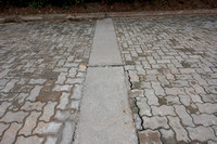 The concrete strip to stabilize pavers,  Brazil