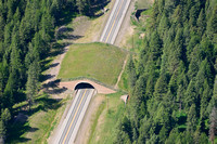 Wildlife overpass and underpass, US Hwy 93, Flathead Indian Reservation, Montana, USA
