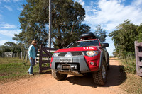 Going through a gate, Mitsubishi 4x4, L200 Triton Savana, on wil