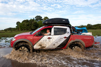 Mitsubishi 4x4, L200 Triton Savana, on wildlife expedition to th