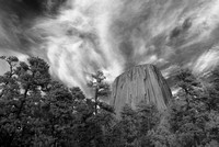 Devils Tower National Monument in infrared, Wyoming, USA