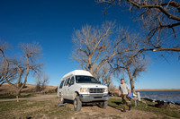Our 4x4 camper van, Big Alkali Fish Camp, Nebraska, USA