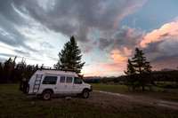 Camp spot, Wind River Range, Big Sandy trailhead area, Wyoming,