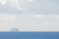 Great Skellig (Skellig Michael) island from across Dingle Bay, Ireland