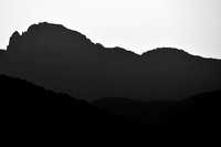 Silhouetted Ridges at sunset, Serra Fina (a section of Serra da Mantiqueira), near Passa Quatro, Minas Gerais, Brazil