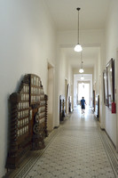 Hallway at the main building, University of São Paulo, Piraciccaba campus (ESALQ), Brazil
