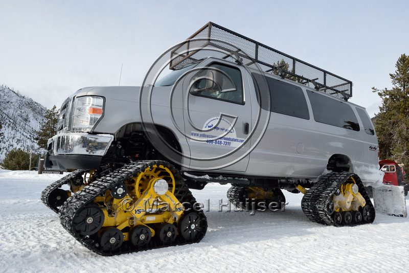 Marcel Huijser Photography | Snow mobiles Yellowstone ...