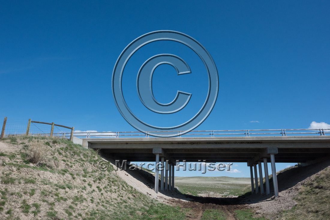 Underpass for farm vehicles (along I-25, mile 276.22), north of