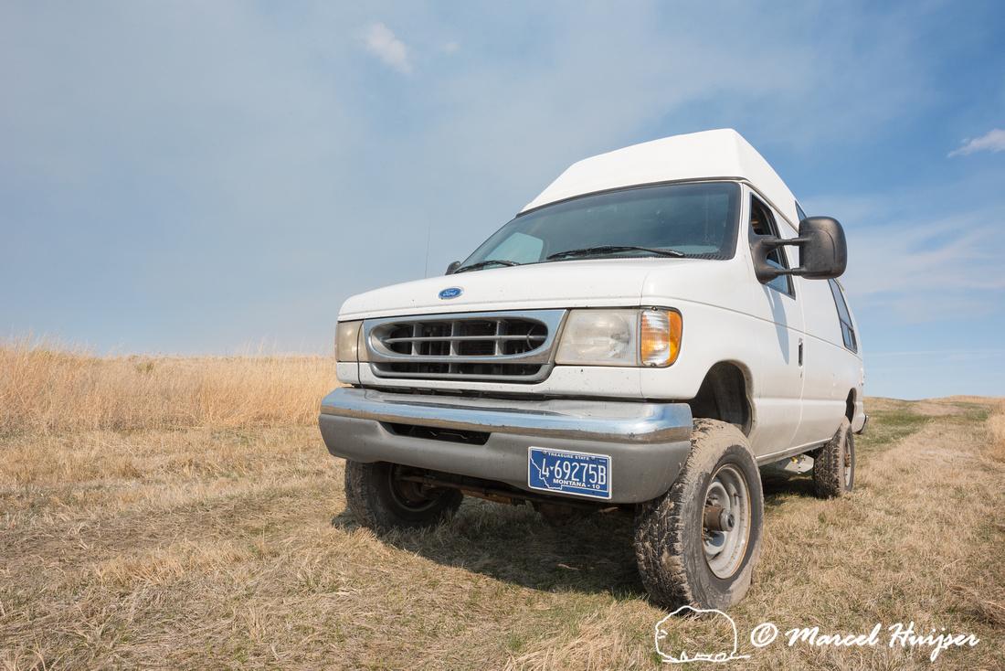 Our 4x4 camper van, Valentine National Wildlife Refuge, Nebraska