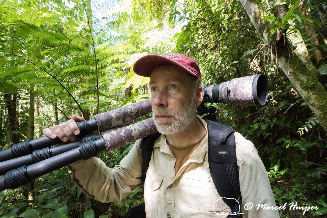 Marcel Huijser in Atlantic forest, São Paulo, Brazil