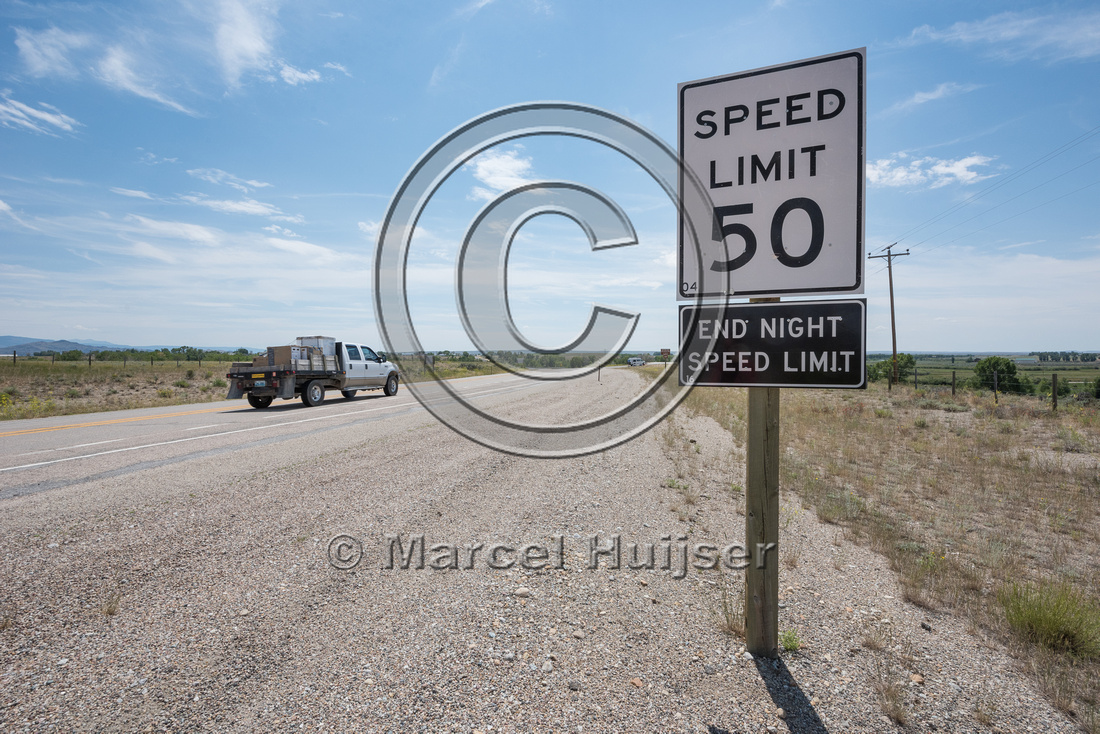 End zone with reduced posted speed limit at night in high collis