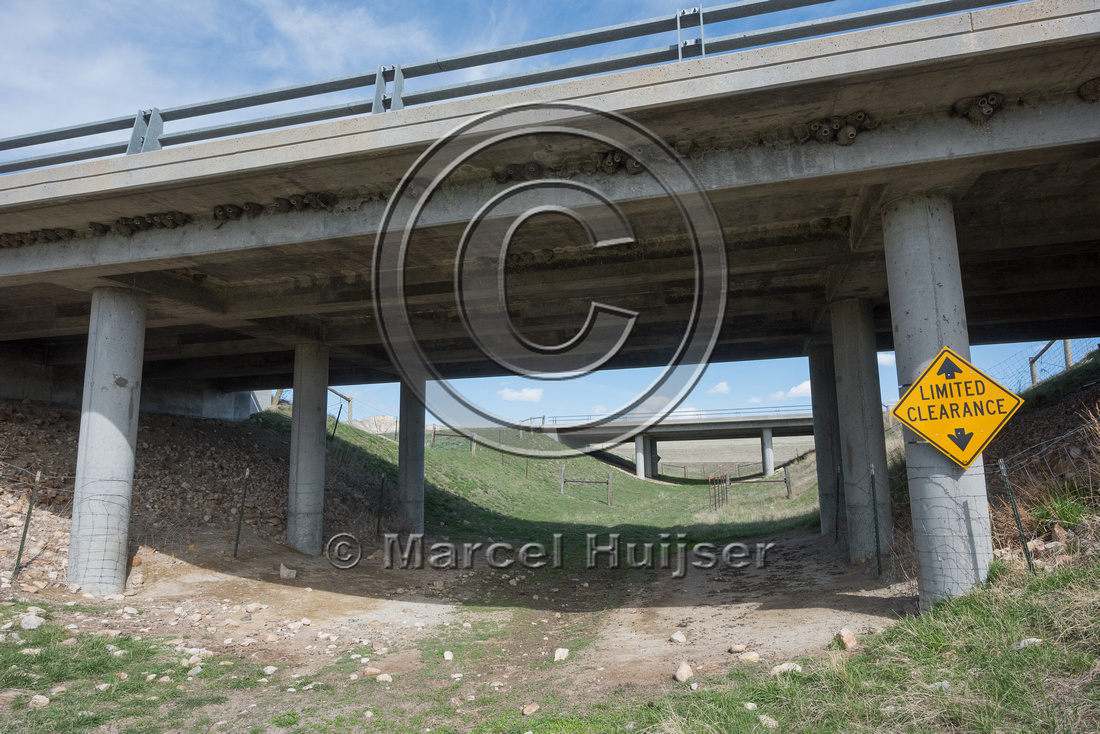 Underpass for farm vehicles and livestock (along I-25, mile 269.