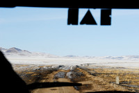 Dirt road in winter near Omnodelger, Khentii, Mongolia