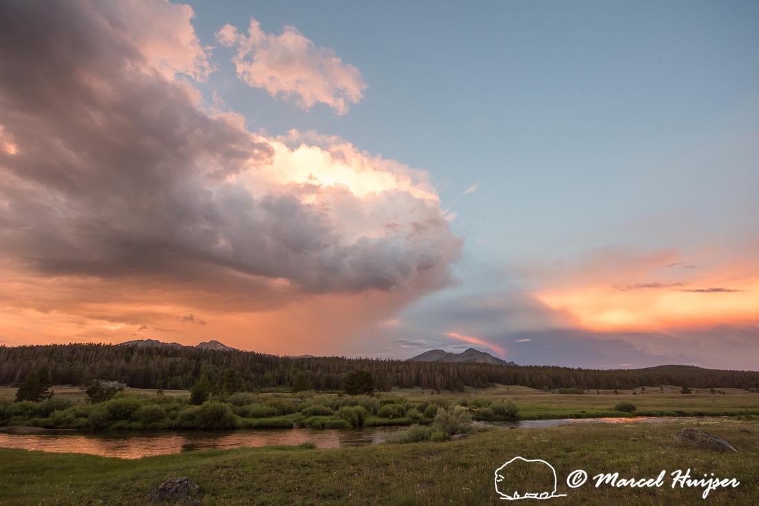 Evening thunderstorm, Big Sandy Trailhead area, Wind River Range