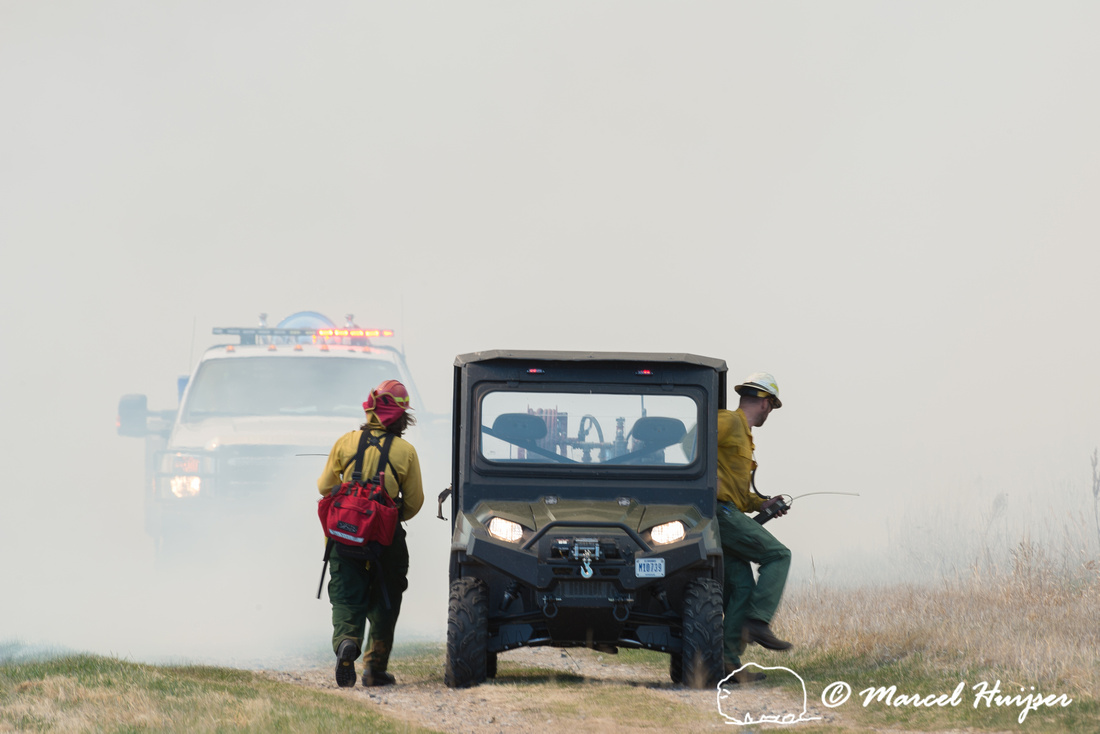 Prescribed grassland and wetland fire, Valentine National Wildli