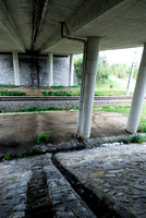 Drainage system at multifunctional underpass, under A4 motorway, Parndorf, Austria