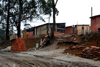 A new favela (illegal houses, slums) has sprung up and is under construction, Greater São Paulo, Brazil