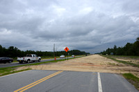 Construction for highway widening (4 lanes to 2 lanes), Hwy 331, Hwy 83 near Freeport, Florida, USA