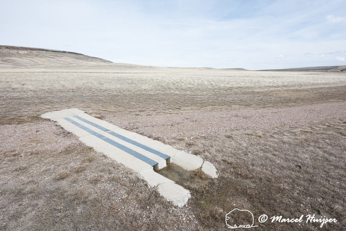 Drainage structure at trail, First Peoples Buffalo Jump State Pa