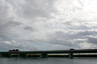 A long bridge (1 mi, 1.6 km) elevating the Tamiami Trail (US Hwy 41) allowing for restoration of sheet flow in the Everglades, Florida, USA