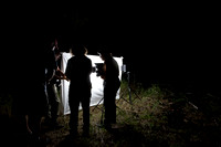 Moth night, attracting moths and other invertebrates using light