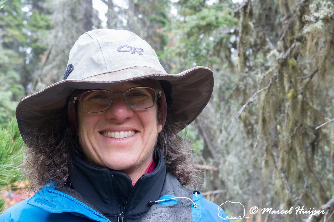 Bethanie Walder hiking, Glacier National Park, Montana, USA