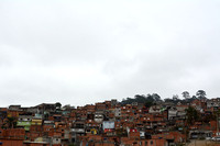 Favela with illegal houses (slums), Greater São Paulo, Brazil