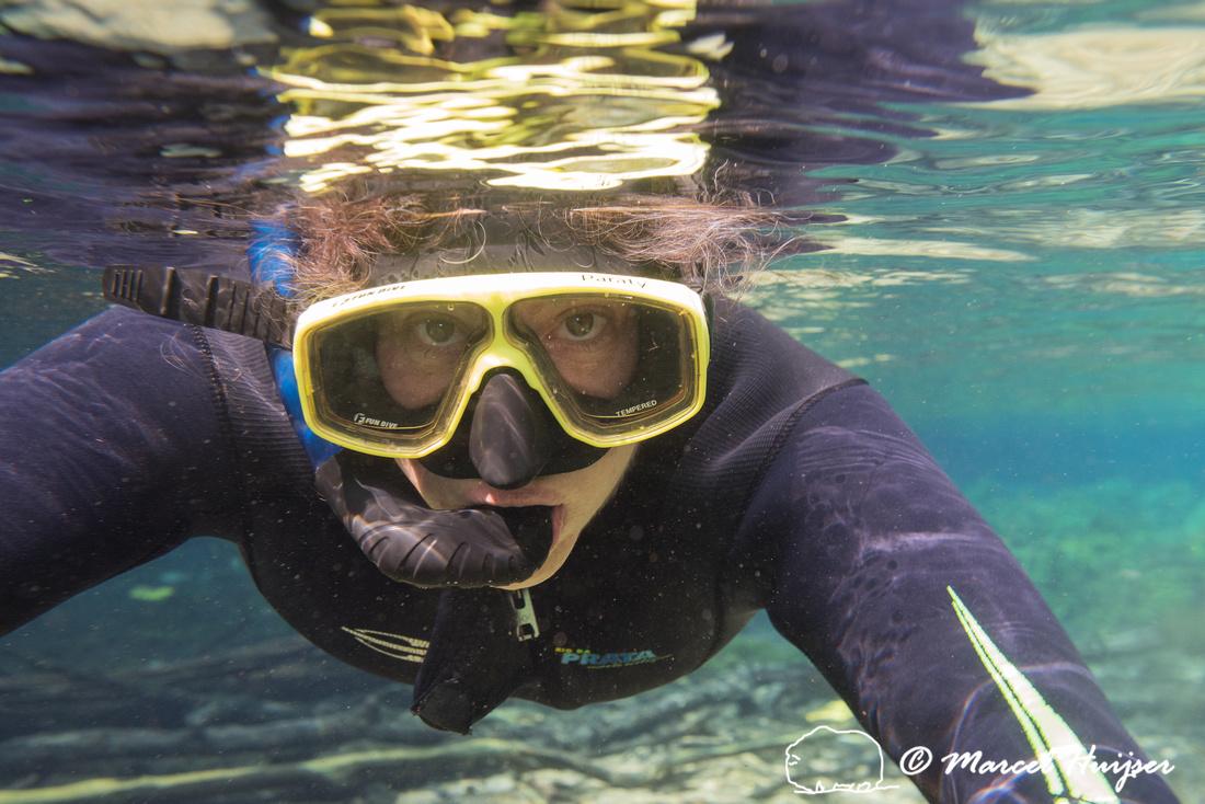 Bethanie Walder, snorkeling in Rio da Prata, Bonito, Mato Grosso