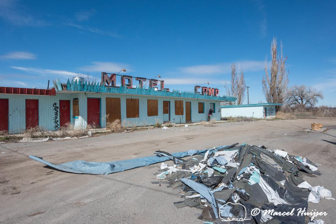 Motel Camp, Crow Agency, Montana, USA
